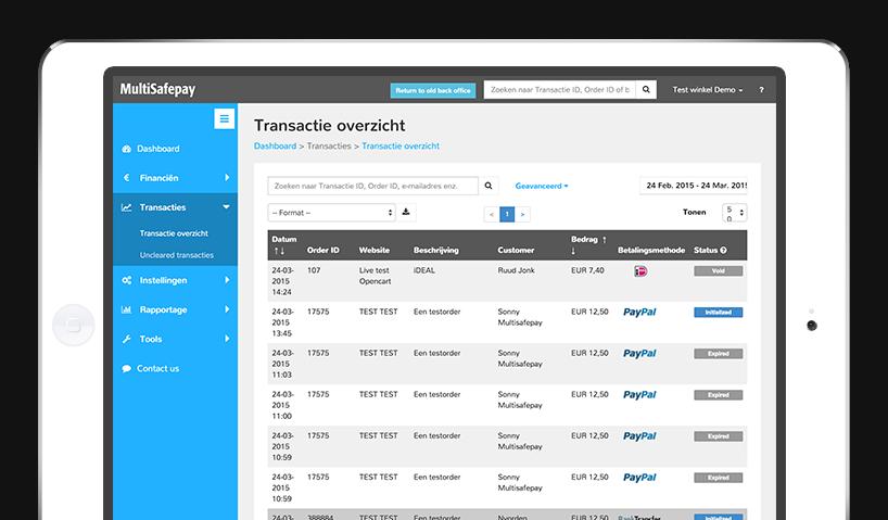 Multisafepay: MultiSafepay Control tool Multisafepay
